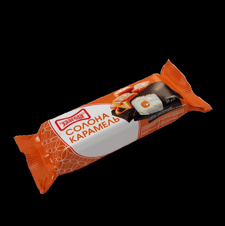 глазурований сирок солона карамель ТМ Злагода