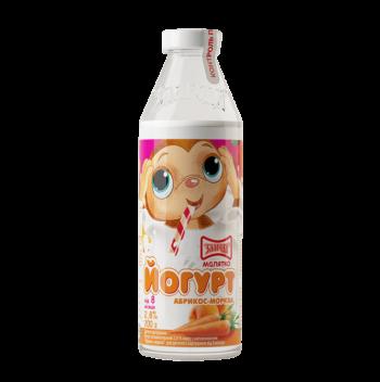 дитячий йогурт абрикос морква 200 ТМ Злагода