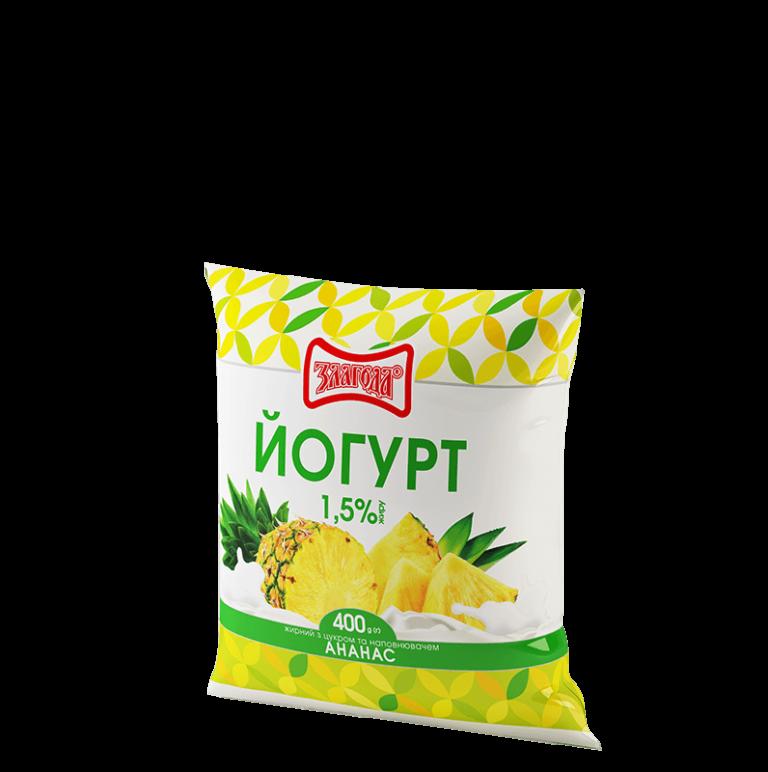 йогурт ананас ТМ Злагода