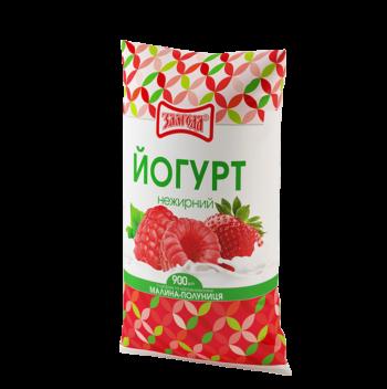 йогурт малина полуниця ТМ Злагода
