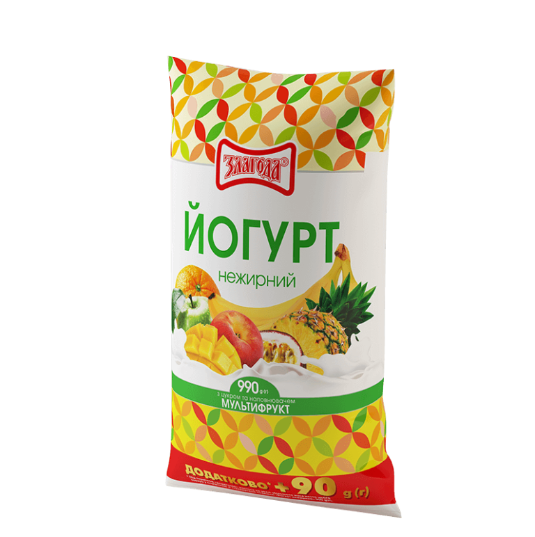 йогурт мультифрукт ТМ Злагода
