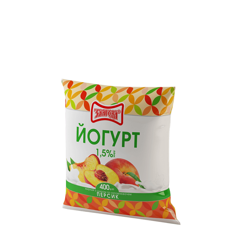 йогурт персик ТМ Злагода