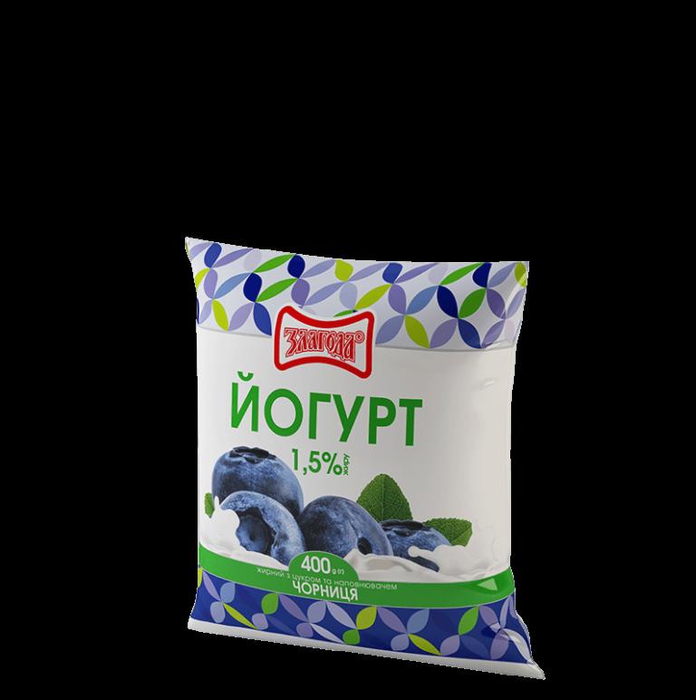 йогурт чорниця ТМ Злагода